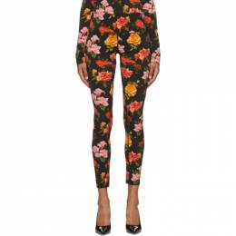 Multicolor Floral Beach Leggings COMF20P00007-0111 Commission