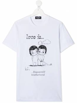 Dsquared2 Kids футболка с принтом Love Is DQ04J6D003L