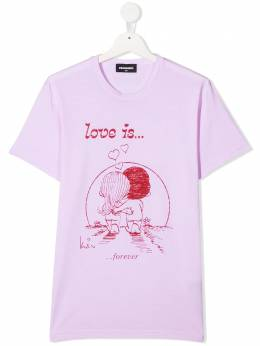 Dsquared2 Kids футболка с принтом Love Is... DQ04J5TD003L