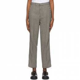 Ami Alexandre Mattiussi Black and White Tweed Trousers H20FT007.217