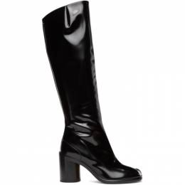 Maison Margiela Black Patent High Tabi Boots S34WW0057 PS679