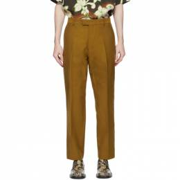 Dries Van Noten Brown Wool and Cotton Trousers 20933-1319-203