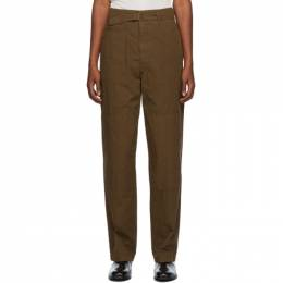 Lemaire Brown Cotton Trousers M 203 PA160 LF509