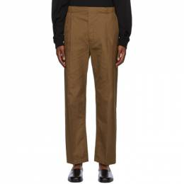 Lemaire Brown Pleated Drawstring Trousers M 203 PA146 LF353