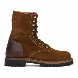 Belstaff Brown Suede Marshall Boots 1058338
