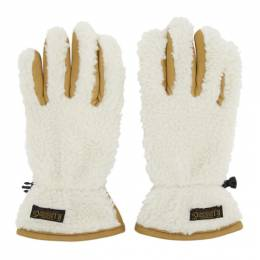 Polo Ralph Lauren Tan and Off-White Sherpa Outdoor Touch Gloves PG0099