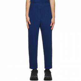 Homme Plisse Issey Miyake Blue Colorful Pleats Trousers HP08JF141