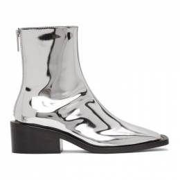 MM6 Maison Margiela Silver Square Toe Boots S66WU0062 PS277