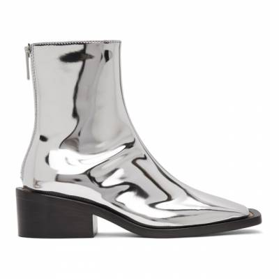 MM6 Maison Margiela Silver Square Toe Boots S66WU0062 PS277 - 1