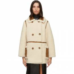 Off-White and Tan Chloe Jacket Stand Studio 61186-9010