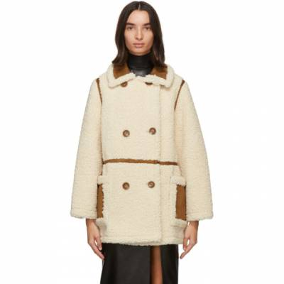 Off-White and Tan Chloe Jacket Stand Studio 61186-9010 - 1