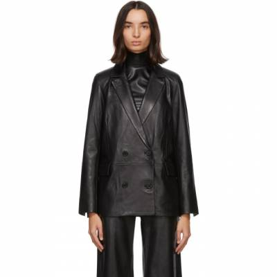Black Leather Cassidy Blazer Stand Studio 61046-7020 - 1