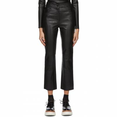 Black Leather Avery Trousers Stand Studio 61163-7010 - 1