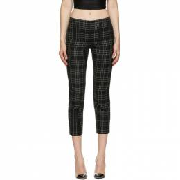 Alexander McQueen Black and White Welsh Check Trousers 640016QJAB5