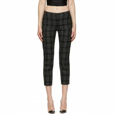 Alexander McQueen Black and White Welsh Check Trousers 640016QJAB5 - 1