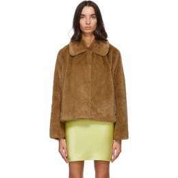 Brown Faux-Fur Marcella Koba Jacket Stand Studio 61060-9070