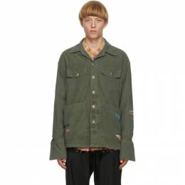 Greg Lauren Green Boxy Studio Jacket SS20M116