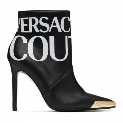 Versace Jeans Couture Black Logo Ankle Boots EE0VZBS05E71563E899 - 1