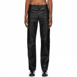 Black Lambskin Go To Trousers Ludovic de Saint Sernin LDSS-AW20-PT01