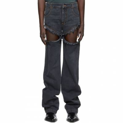 Black Thigh Hole Jeans Telfar FW20-D-10 - 1