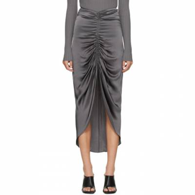 Dion Lee Grey Gather Tie Skirt A1310F20 - 1