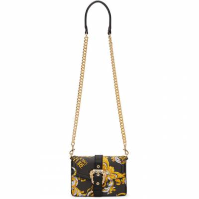 Versace Jeans Couture Black Faux-Leather Baroque Buckle Bag EE1VZABF6 E71579 - 1