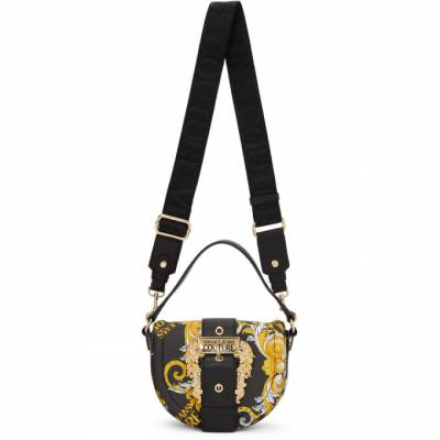 Versace Jeans Couture Black Faux-Leather Baroque Round Buckle Bag EE1VZABF2 E71579 - 1