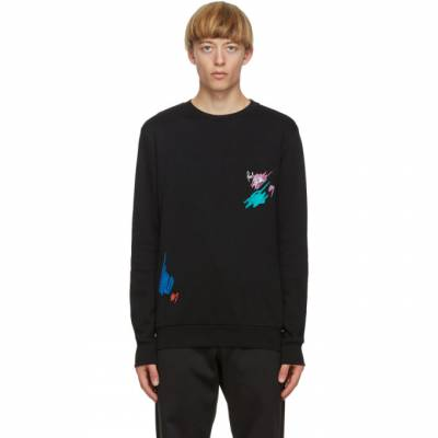 Paul Smith Black Marker Pen Embroidered Sweatshirt M1R-302S-EP1945 - 1