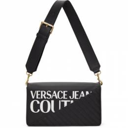 Versace Jeans Couture Black Faux-Leather Logo Shoulder Bag EE1VZBBG2E71728E899