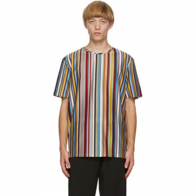 Paul Smith Multicolor Signature Stripe T-Shirt M1R-919T-E01176 - 1