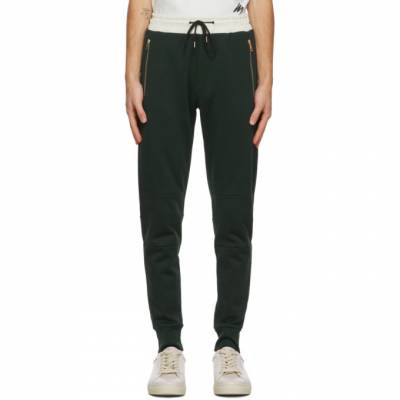 Paul Smith Green and Off-White Contrast Lounge Pants M1R-200UM-E00552 - 1