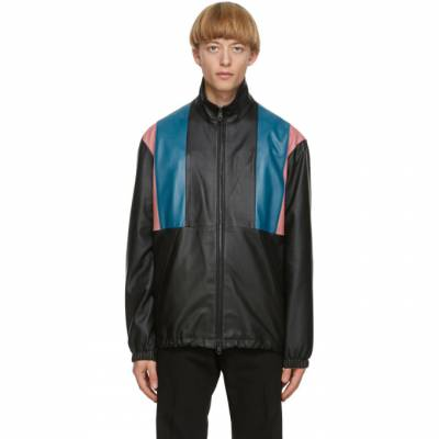 Paul Smith Black 80s Panelled Leather Jacket M1R-259UP-E01189 - 1