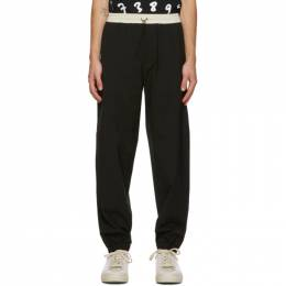 Paul Smith Black Wool Drawstring Trousers M1R-025U-E01002