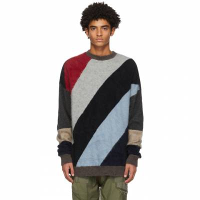 Mulicolor Wool Patchwork Sweater Children of the Discordance COTDKN-620 - 1