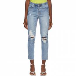 Ksubi Blue Ripped Slim Pin Jeans 41770