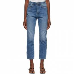 Ksubi Blue Stonewashed Chlo Wasted Jeans 41790