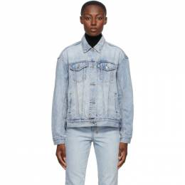 Ksubi Blue Denim Oversized Jacket 35010
