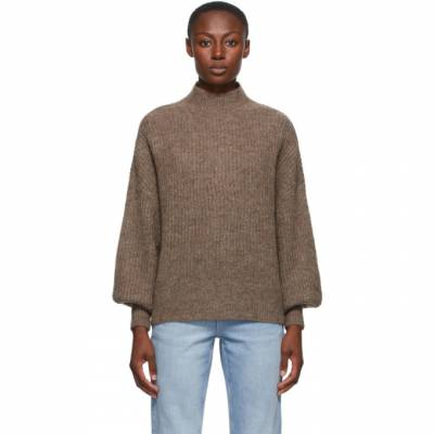 Won Hundred Brown Alpaca and Wool Blakely Sweater 0912-11042 - 1