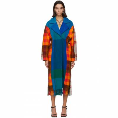 Blue Sally Upcycled Blanket Coat Rave Review 2023AW20 UNIQUE - 1