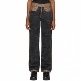 Black and Brown Pieladero Jeans BARRAGAN B-AW20-14