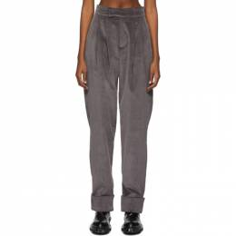 SSENSE Exclusive Grey Corduroy Pachecon Pieladero Trousers BARRAGAN B-AW20-06_G