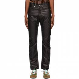 Dries Van Noten Black Coated Cotton Trousers 22413-1176-900