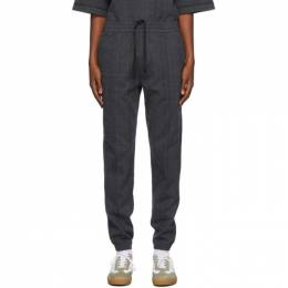 Dries Van Noten Grey Check Slim Trousers 21117-1160-802