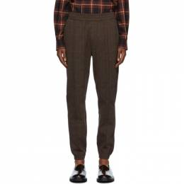Dries Van Noten Brown Check Slim Trousers 21117-1160-703