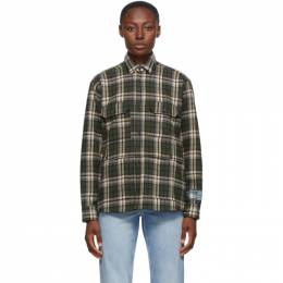 Green Flannel Check Shirt Reese Cooper TF00071