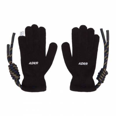 Ader Error Black Crumple Gloves BTAFWAC03BK - 1