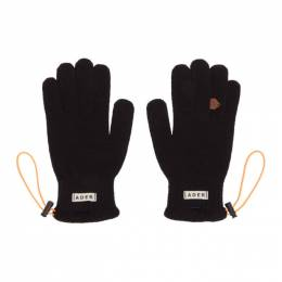Ader Error Black String Gloves BTAFWAC02BK