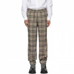 Khaki and Black Wool Checked Pop Trousers Schnaydermans 3200544-01