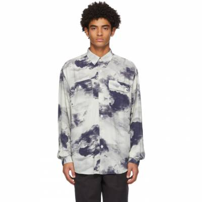 Blue and White Boxy Cloud Shirt Schnaydermans 2600578-01 - 1