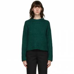 3.1 Phillip Lim Green Long Sleeve Alpaca Sweater F201-7297CAW